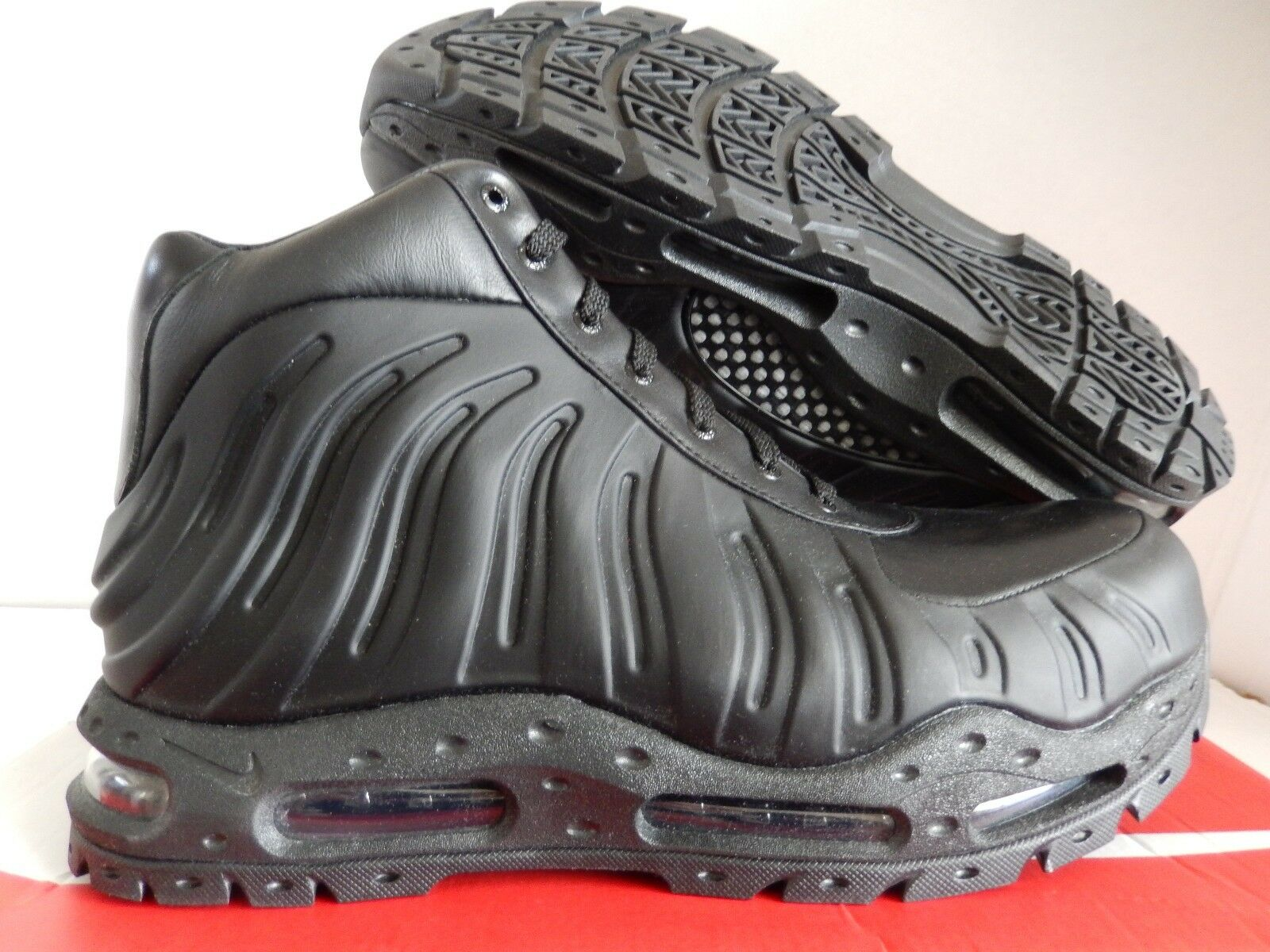 NIKE AIR MAX FOAMDOME FOAMPOSITE BOOTS BLACK-BLACK SZ 9.5 [843749-002]