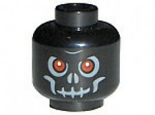 LEGO - Minifig, Head Skull Evil with Scowl & Red Eyes Pattern - Black