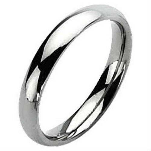 in Gift Box! size 10 NEW Plain 5mm wide TITANIUM Wedding Ring // Band