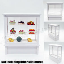 1:12 Miniature White Display Bakery Shop Cabinet Counter Shelving Case Big Size
