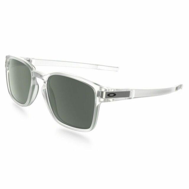 0b2fe462b291 Oakley Latch Square Matte Clear Sunglasses Dark Gray Lens Oo9353 07 ...