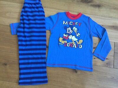 Disney Boys Mickey Mouse Football Pyjamas 3-4 5-6 7-8 Years New