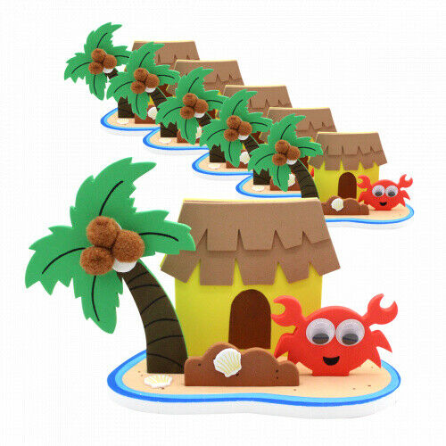 6 x Insel Hawaii Sommerparty Bastelset Sommerparty Spielzeug Basteln Mitgebsel