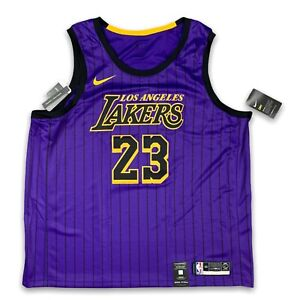 Nike LEBRON JAMES LAKERS JERSEY CITY EDITION Size 3XL LA Lakers ...