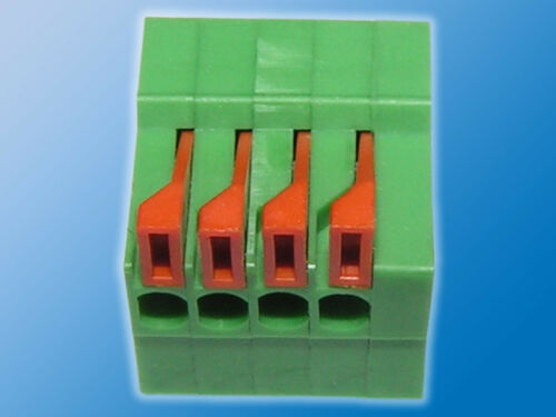 5x ReihenklemmeWR-TBL4-fachGrün//OrangeWürth691402910004B2,54mm