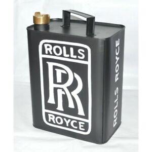 Aluminium-Rolls-Royce-Oil-Petrol-Jerry-Can-Reproduction-Brass-Cap-Car-Garage