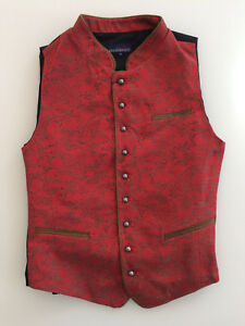 Stockerpoint Trachtenweste Gilet PAOLO rot Weste 46 48 50 52 54 56 58 60 Tracht