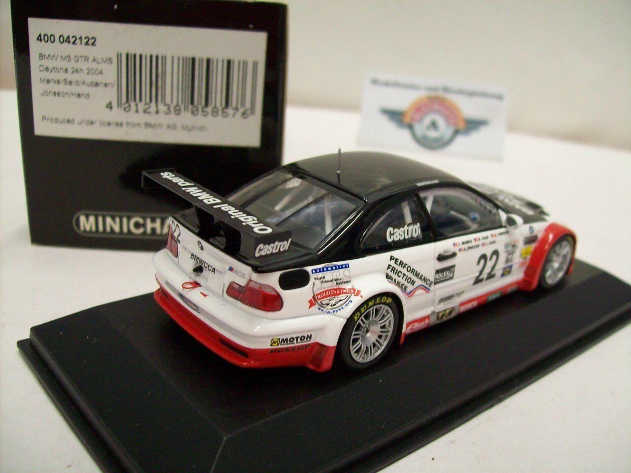 Bmw m3 GTR GTR GTR  22 ALMS  24h Daytona 2004 , Minichamps 1 43, embalaje original c3ca6d