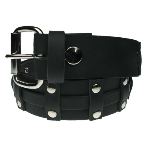 New Real Leather Mens Womens High Quality Punk Fashion Belts Made In UK