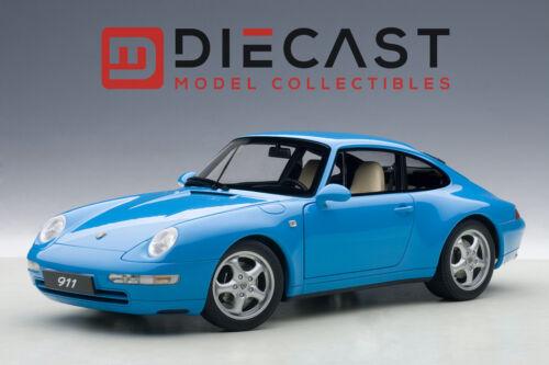 BLUE 1:18TH SCALE AUTOART 78133 PORSCHE 993 CARRERA 1995