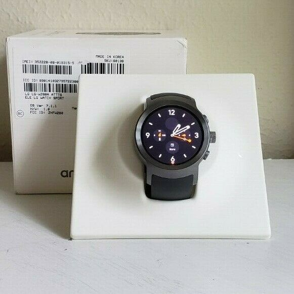 LG WATCH SPORT W280A 4G LTE 45.4mm STAINLESS STEEL CASE TITANIUM/GRAY BAND