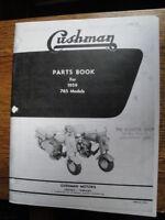 Cushman Eagle Parts Book For 1959 765 Models