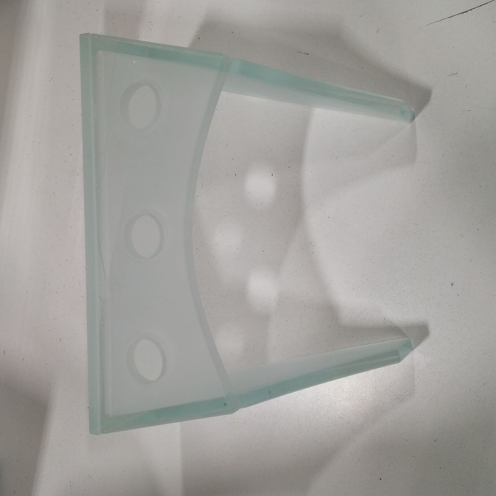 DECOLAV 9400T-CR Faucet Stand with Tempered Frosted Glass Crystal