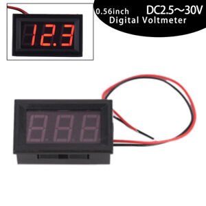 Mini-LED-Red-Digital-Display-Voltage-Voltmeter-Panel-Accurate-Meter-DC2-5-30V-M4