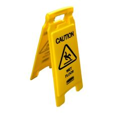 5 Rubbermaid Commercial Products 26 Inch Caution Wet Floor Signs 2 Sided
