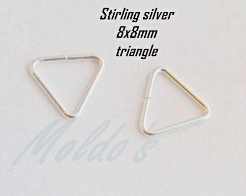 Sterling 925 slver 8 X 8 mm Triángulo encanto colgante perla titular C5 De Alta Calidad