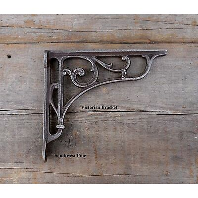 Antique Style Cast Iron Wall-Shelf Brackets Choice Of Design & Size x 1 Bracket