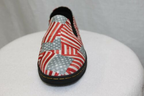 Dr Doc Martens Kids TIMON American Flag Slip On Loafers MSRP $65 NEW