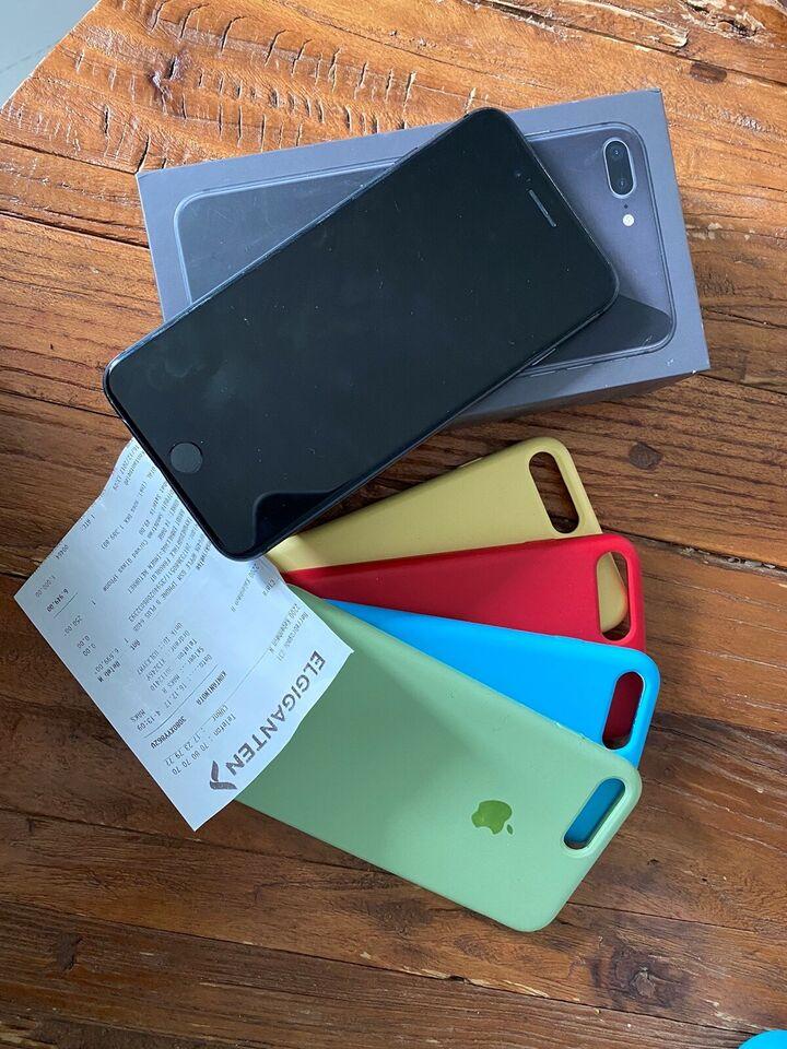 iPhone 8 Plus, 64 GB, sort