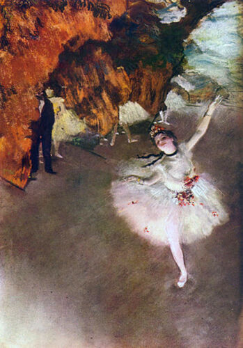 "Prima Ballerina  by Edgar Degas  20/""x26/""  Canvas Print"