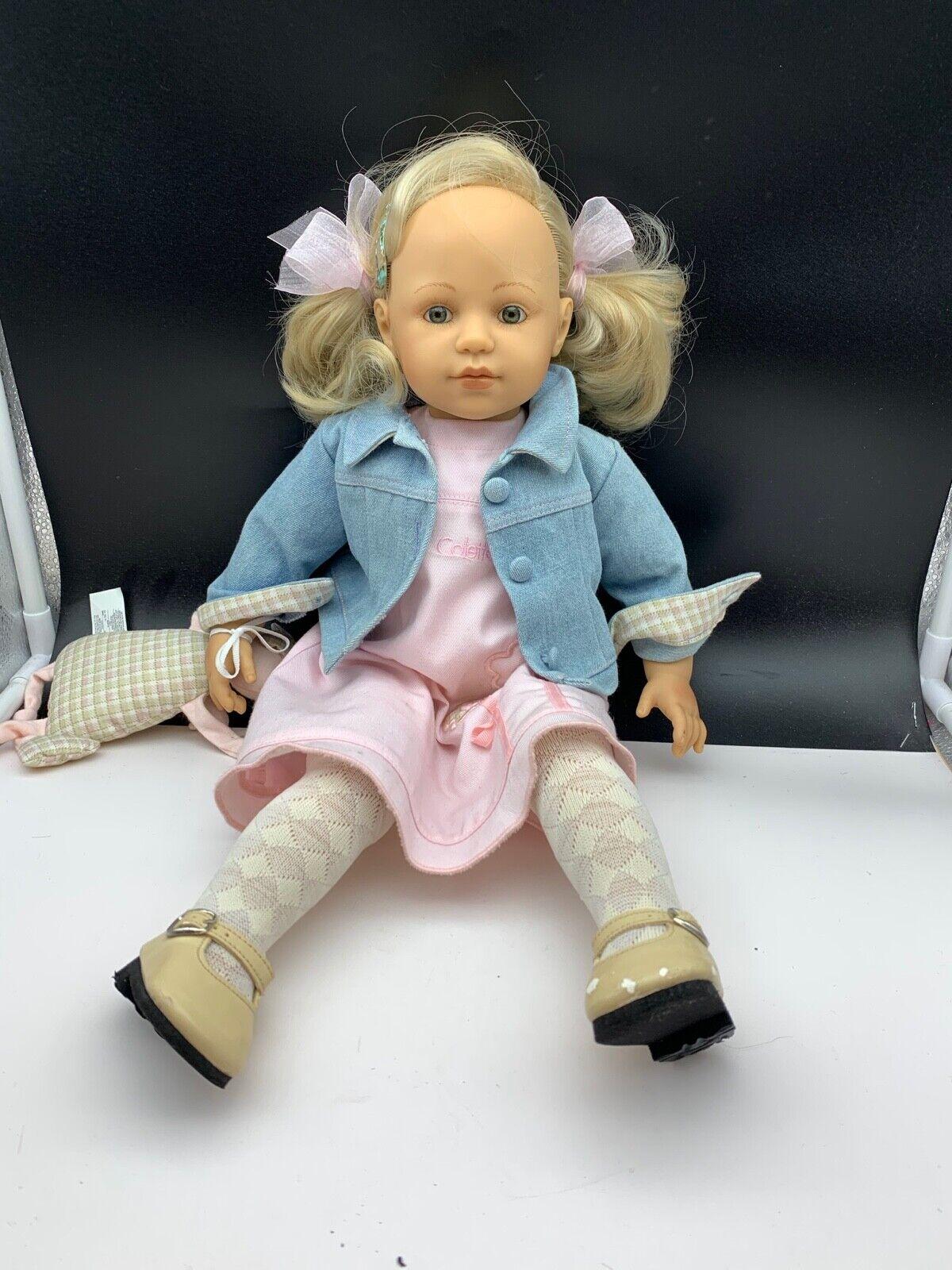 Brigitte Paetsch Bambola D'Autore Plastica Bambola 50 Cm. Ottime Condizioni