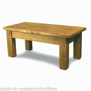 Any Size Made Solid Wood Chunky Rustic Plank Pine Coffee Table
