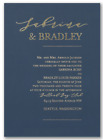Wedding Invitations Personalized Modern Contemporary Linear Foil Stamped Wording