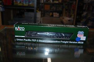 N-Scale-Kato-126-0402-FEF-3-Steam-Locomotive-Freight-Union-Pacific-838