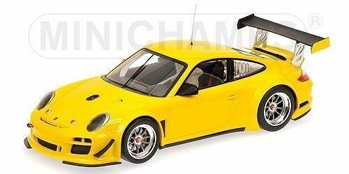 MINISTAMPS 2010 PORSCHE 911 GT3R STREET gul 1 18 New Långt såld Sällsynt Herregud