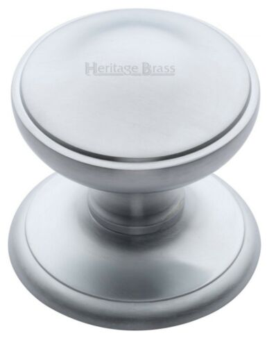 "Heritage Brass V900-sc round centre door knob 3/"" satin chrome finish"
