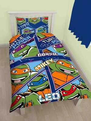 Bettwäschegarnituren Bettwaren, -wäsche & Matratzen Tmnt Ninja Turtles Wendbarer Einzelbettbezug Reversible Single Duvet Cover Online Rabatt