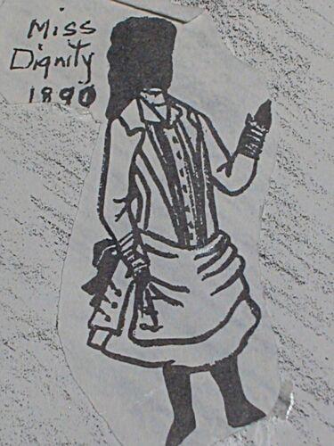 "Orig Franki/'s Antique Bebe Doll Parisian Dress Pattern Miss Dignity 11/"" to 29/"""