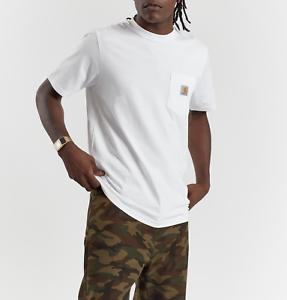 T-shirt-uomo-CARHARTT-WIP-S-S-Pocket-I02291-100-cotone-jersey-Col-white