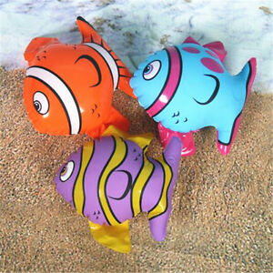 1-10X-Inflatable-Blow-Up-Toys-Striped-Fish-Hawaiian-Beach-Pool-Fancy-Dress-Party