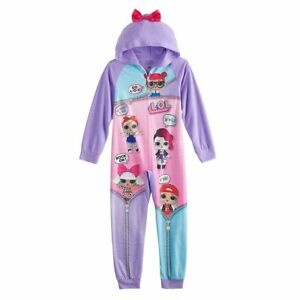 692ee719b244 NWT Girl s L.O.L. LOL Surprise! Doll One Piece Union Suit Pajamas 4 ...