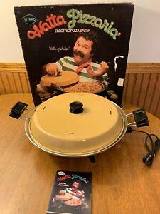 Vintage-1970-039-S-MIRRO-WATTA-PIZZARIA-Electric-Pizza-Maker-With-Box-Manual-Cord