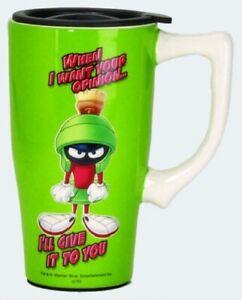 Looney Tunes Ceramic Travel Coffee Mug: Marvin the Martian