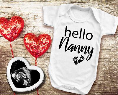 Pregnancy reveal white baby grow pregnancy announcement Hello Grandpa