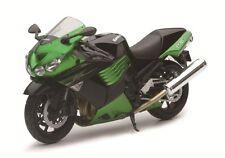 2011 KAWASAKI ZX-14 NINJA GREEN 1/12 MOTORCYCLE MODEL BY NEW RAY 57433B