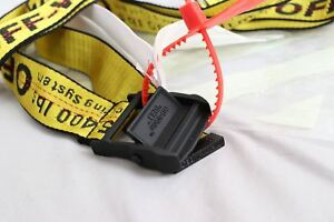 NWT Off White Industrial Tie Down Belt Virgil Abloh Yellow Iron ... 4fe15f191487