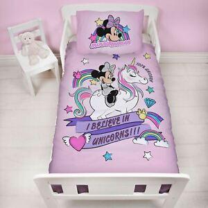 Minnie-Mouse-Believe-Junior-Bebe-Set-Housse-de-Couette-Enfants-Literie-Licorne