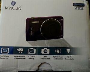 Minolta-MN12Z-HD-Digital-Camera-w-12X-Zoom-2017-New-Factory-Sealed-in-Box