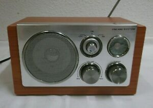 Retro-Standradio-FM-AM-System-Radio-Holzverkleidung