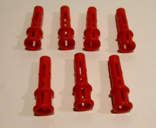 7 x LEGO® 32054 Technik Verbinder Pins rot wie auf dem Foto Neu.