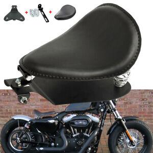 Solositz-Sattel-Sitz-Federn-Halteschiene-Grundplatte-Fuer-Harley-Chopper-Bobber