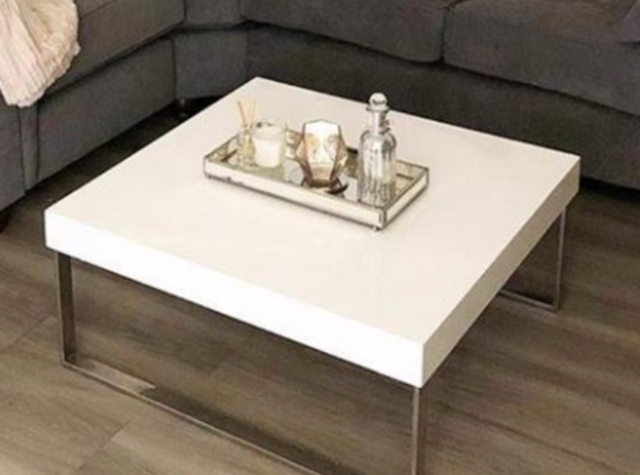 Coffee Table Square Aluminium Metal