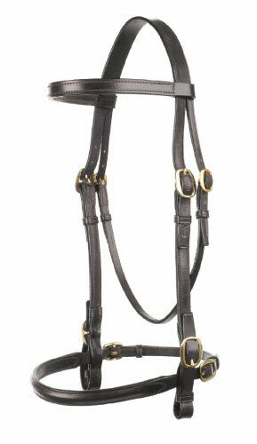 Jeffries In Hand Bridle Leather Pony & Small Pony Black Havana Shop Closure Stok