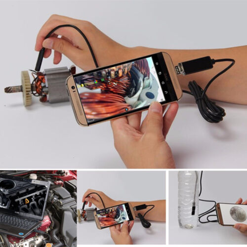 5M 7mm 6LED For Android PC Endoscope IP67 Inspection Borescope HD Camera Video