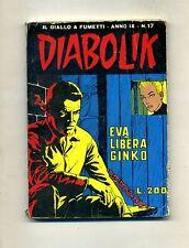 DIABOLIK # EVA LIBERA GINKO # Anno IX N.17 Agosto 1970 # Astorina