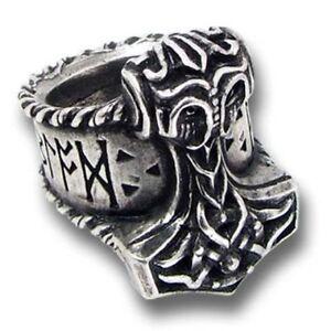 Image Is Loading Viking Mjolnir Thor 039 S Hammer Runic Ring